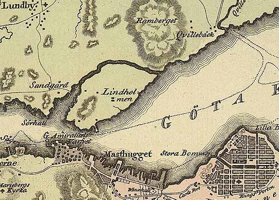 Den medeltida borgen Lindholmen